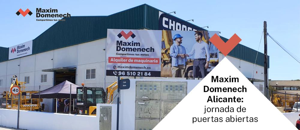 Portada Jornada puertas abiertas Maxim Domenech Alicante