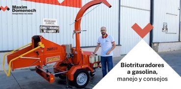 Biotrituradores a gasolina, manejo y consejos